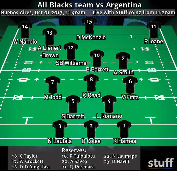 Vaea Fifita returns to All Blacks team for Argentina Test