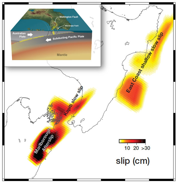 Kaikura An Example Of How Large Quakes Trigger Slow Slip Events At