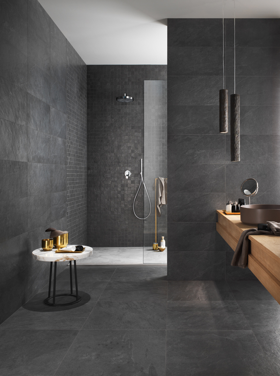 Use A Dark Tile To Give Warm Moody Feel E