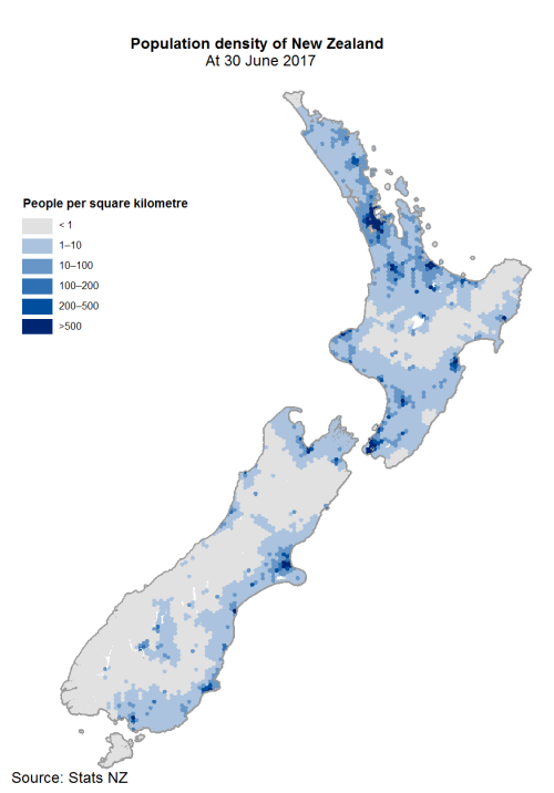 A proportional representation of NZ - 3/4 of us live in the