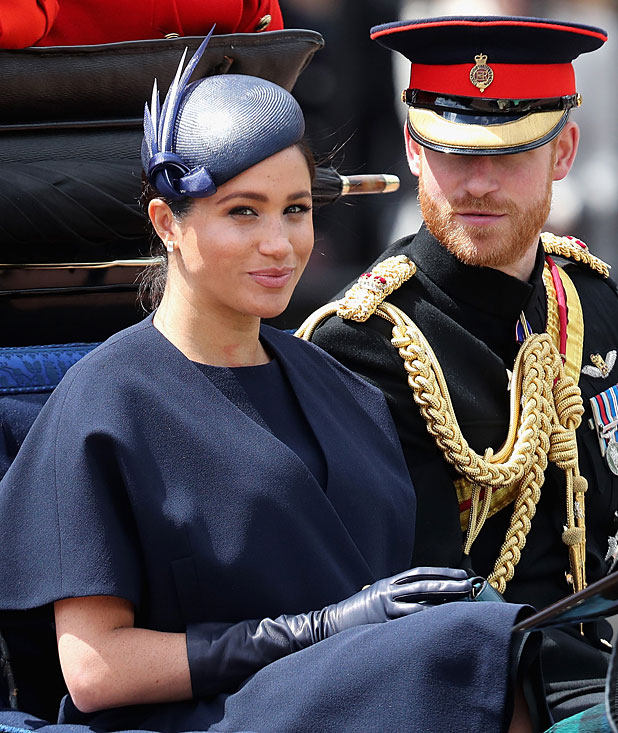 Meghan Markle Attends Queen's Birthday Parade In First